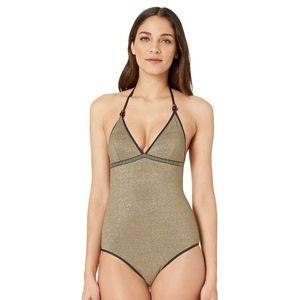 Stella McCartney Lame One-Piece Swimsuit